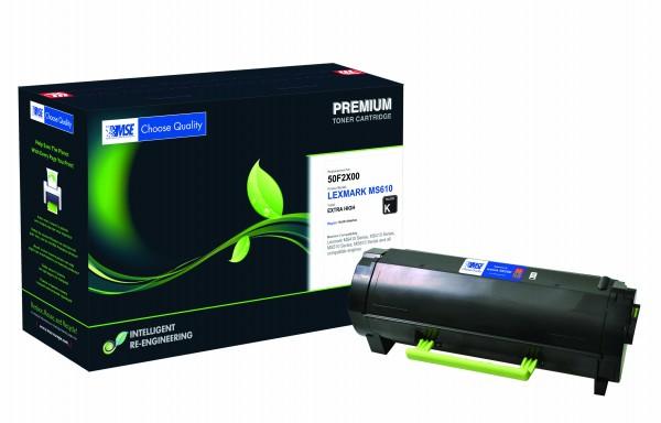 MSE Premium Toner für Lexmark MS610 Extra High Yield - kompatibel mit 50F2X00