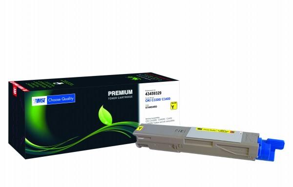 MSE Premium Farb-Toner für Oki C3300/C3400 Yellow - kompatibel mit 43459329