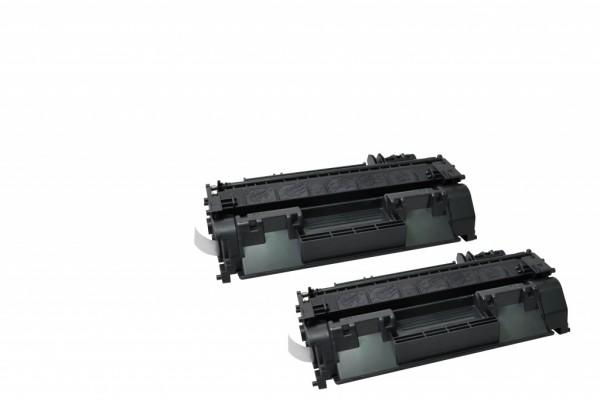 MSE Premium Toner für HP LaserJet P2035/P2055 (05A) Twin Pack - kompatibel mit CE505AD