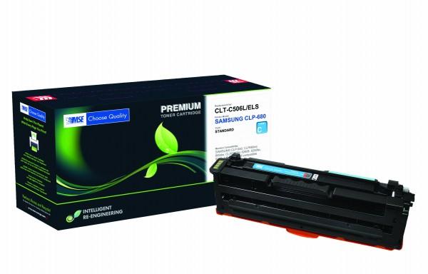 MSE Premium Farb-Toner für Samsung CLP-680 Cyan High Yield - kompatibel mit CLT-C506L/ELS
