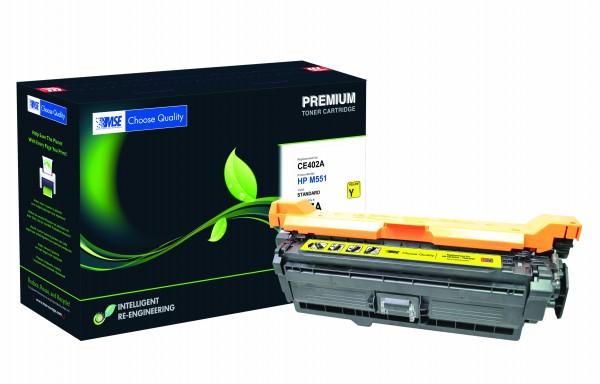 MSE Premium Farb-Toner für HP Color LaserJet M551 (507A) Yellow - kompatibel mit CE402A