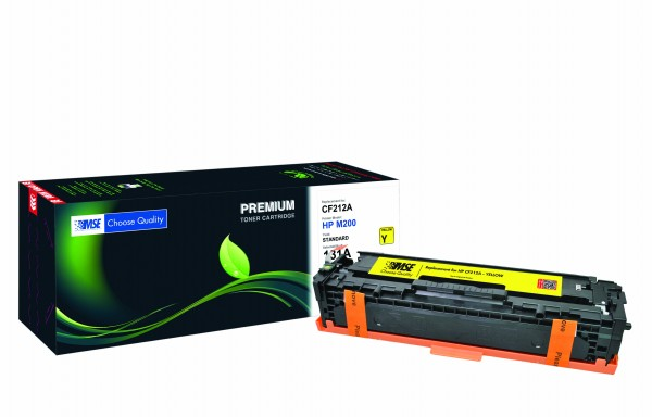MSE Premium Farb-Toner für HP Color LaserJet M251 (131A) Yellow - kompatibel mit CF212A