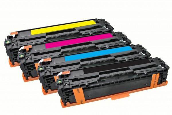 MSE Premium Farb-Toner für HP Color LaserJet CP1525 CMYK Multipack - kompatibel mit CE320A/21A/22A/2