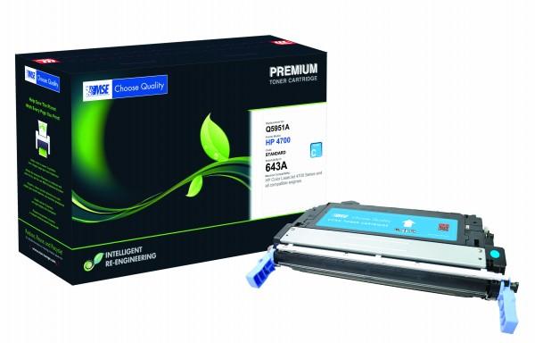 MSE Premium Farb-Toner für HP Color LaserJet 4700 (643A) Cyan - kompatibel mit Q5951A