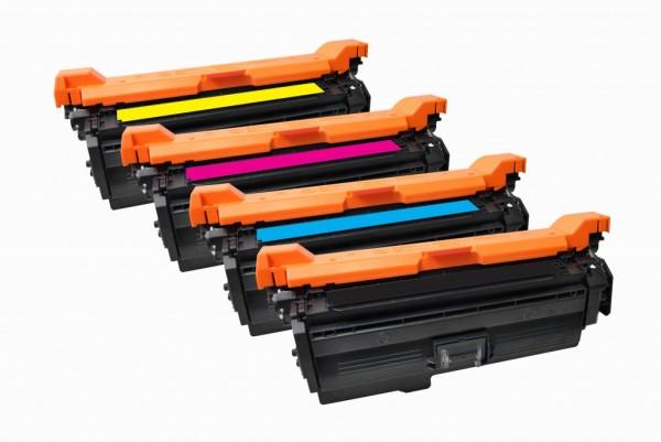 MSE Premium Farb-Toner für HP Color LaserJet CP4025 CMYK MultiPack - kompatibel mit CE260A/61A/62A/6