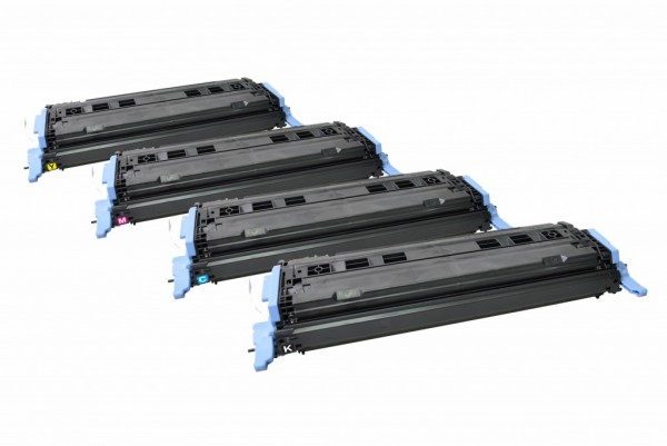 MSE Premium Farb-Toner für HP Color LaserJet 1600/2600 CMYK Multipack - kompatibel mit Q6000A/01A/03