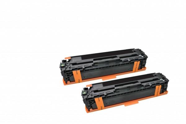 MSE Premium Farb-Toner für HP Color LaserJet CP1525 (128A) Black Twin Pack - kompatibel mit CE320AD