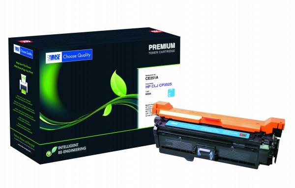 MSE Premium Farb-Toner für HP Color LaserJet 3525 Cyan XXL - kompatibel mit CE251A-XXL