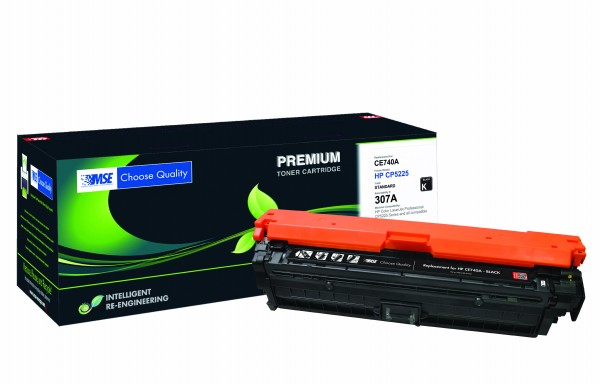 MSE Premium Farb-Toner für HP Color LaserJet CP5225 (307A) Black - kompatibel mit CE740A