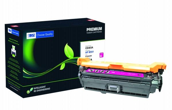 MSE Premium Farb-Toner für HP Color LaserJet M551 (507A) Magenta - kompatibel mit CE403A