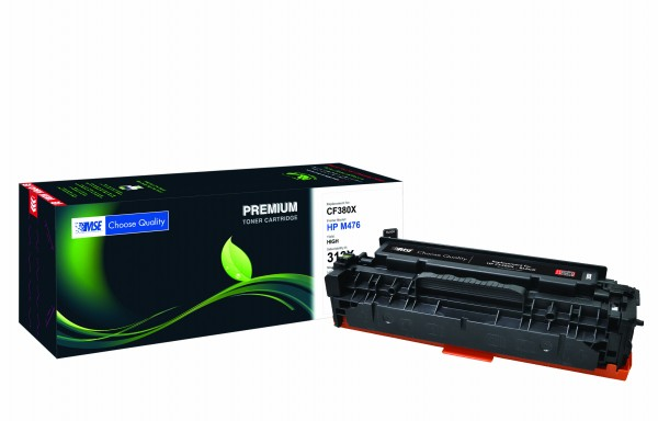 MSE Premium Farb-Toner für HP Color LaserJet M476 (312X) Black High Yield - kompatibel mit CF380X