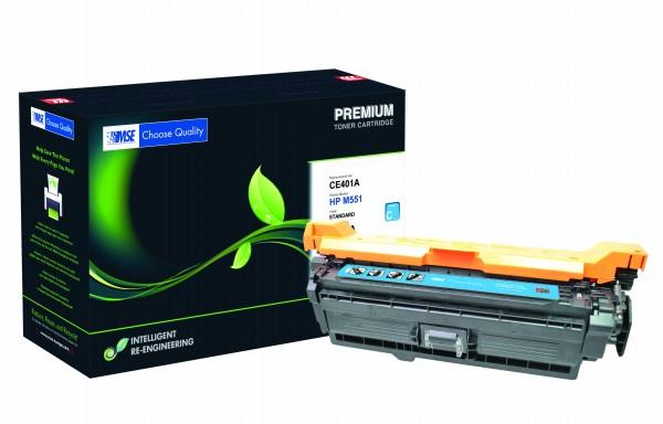 MSE Premium Farb-Toner für HP Color LaserJet M551 (507A) Cyan - kompatibel mit CE401A