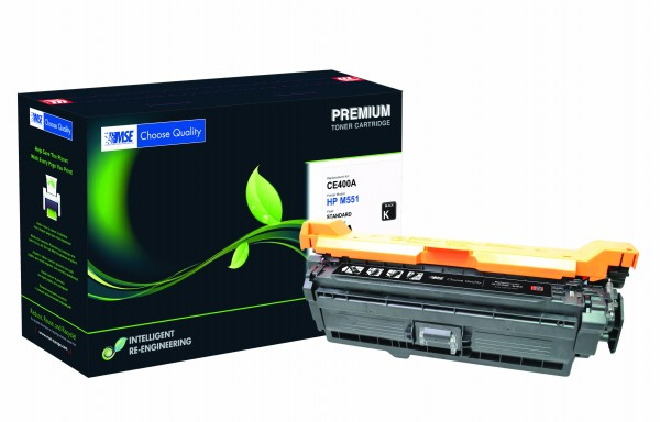MSE Premium Farb-Toner für HP Color LaserJet M551 (507X) Black High Yield - kompatibel mit CE400X