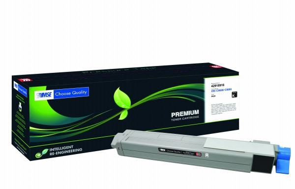 MSE Premium Farb-Toner für Oki C9600/C9800 Black High Yield - kompatibel mit 42918916