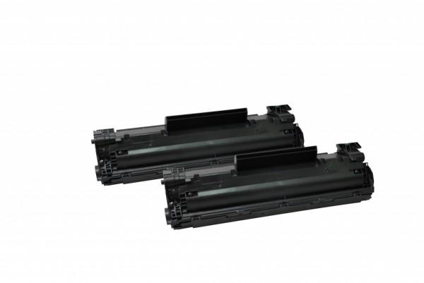 MSE Premium Toner für HP LaserJet P1005/P1006 (35A) Twin Pack - kompatibel mit CB435AD