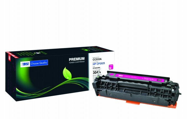 MSE Premium Farb-Toner für HP Color LaserJet CP2025 (304A) Magenta - kompatibel mit CC533A