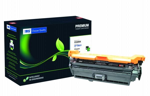 MSE Premium Farb-Toner für HP Color LaserJet M551 Black XXL - kompatibel mit CE400X-XXL