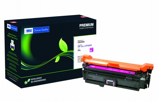 MSE Premium Farb-Toner für HP Color LaserJet 3525 Magenta XXL - kompatibel mit CE253A