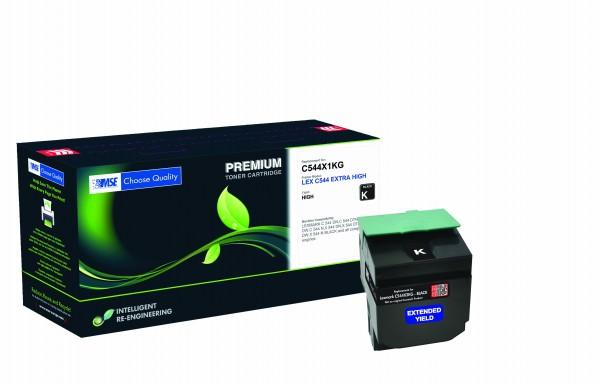 MSE Premium Farb-Toner für Lexmark C544 Black Extra High Yield - kompatibel mit C544X2KG