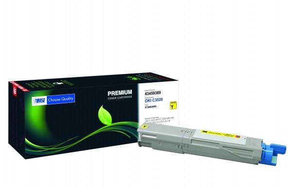 MSE Premium Farb-Toner für Oki C3520 Yellow - kompatibel mit 43459369
