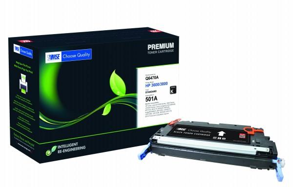 MSE Premium Farb-Toner für HP Color LaserJet 3600/3800 (501A) Black - kompatibel mit Q6470A