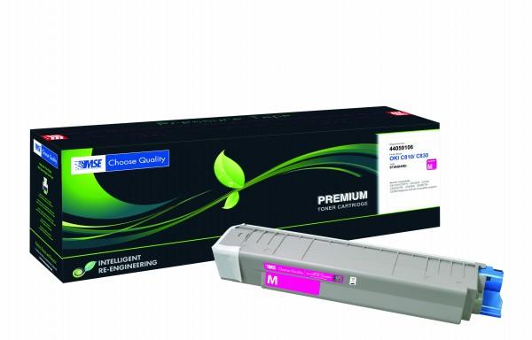 MSE Premium Farb-Toner für Oki C810/C830 Magenta - kompatibel mit 44059106