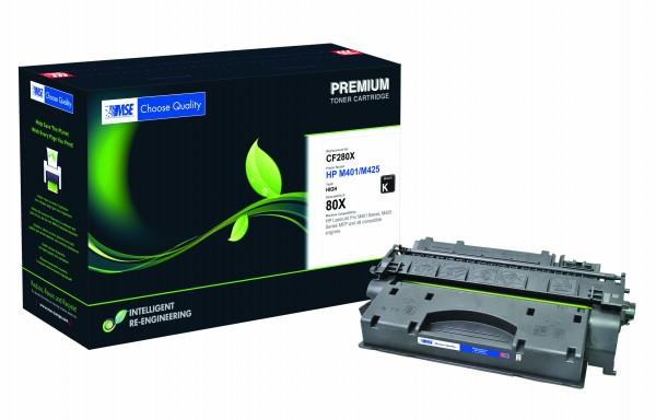 MSE Premium Toner für HP LaserJet M401 (80X) High Yield - kompatibel mit CF280X