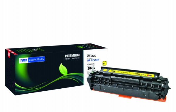 MSE Premium Farb-Toner für HP Color LaserJet CP2025 (304A) Yellow - kompatibel mit CC532A