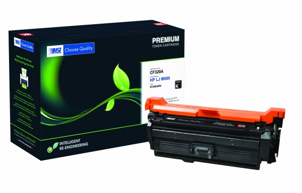 MSE Premium Farb-Toner für HP Color LaserJet M651/M680 (652A) Black - kompatibel mit CF320A