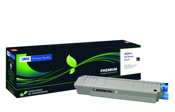 MSE Premium Farb-Toner für Oki MC860 Black - kompatibel mit 44059212