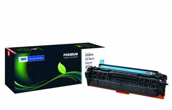 MSE Premium Farb-Toner für HP Color LaserJet M476 (312A) Cyan - kompatibel mit CF381A