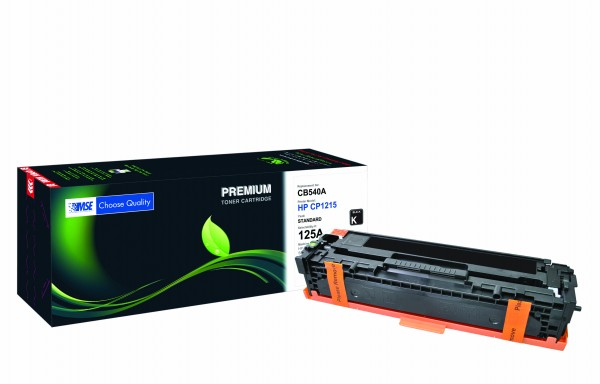 MSE Premium Farb-Toner für HP Color LaserJet CP1215/CP1515 (125A) Black - kompatibel mit CB540A