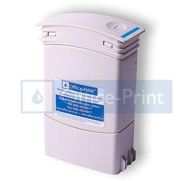 Fachgerecht wiederaufbereiteter Tintentank (350 ml) passend für Francotyp-Postalia Centormail blau