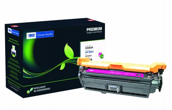 MSE Premium Farb-Toner für HP Color LaserJet M551 Magenta XXL - kompatibel mit CE403A-XXL