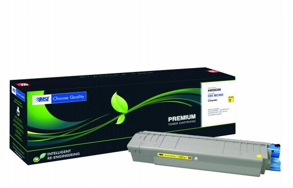 MSE Premium Farb-Toner für Oki MC860 Yellow - kompatibel mit 44059209