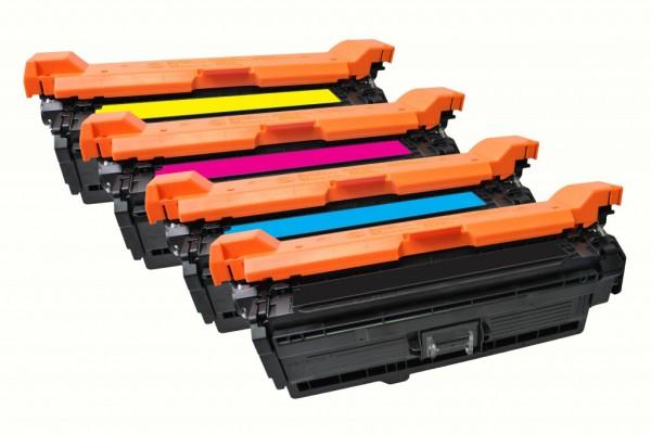 MSE Premium Farb-Toner für HP Color LaserJet CP3525 CMYK Multipack - kompatibel mit CE250X/51A/52A/5