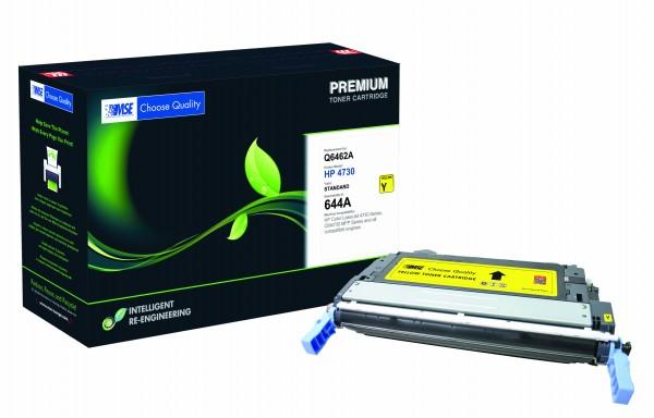 MSE Premium Farb-Toner für HP Color LaserJet 4730 (644A) Yellow - kompatibel mit Q6462A