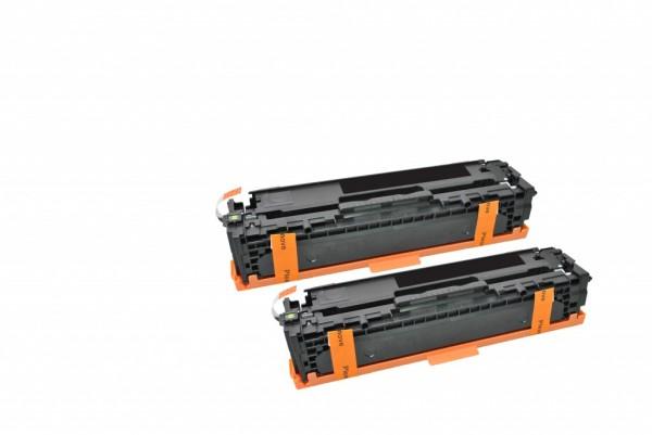MSE Premium Farb-Toner für HP Color LaserJet M251 (131X) Black High Yield Twin Pack - kompatibel mit