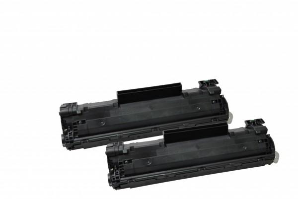 MSE Premium Toner für HP LaserJet P1505 (36A) Twin Pack - kompatibel mit CB436AD