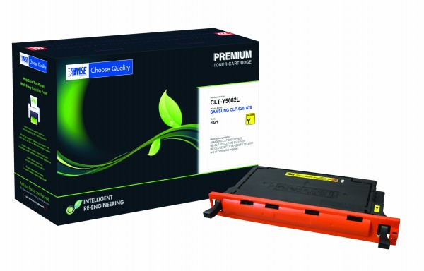 MSE Premium Farb-Toner für Samsung CLP-620/670 Yellow High Yield - kompatibel mit CLT-Y5082L/ELS
