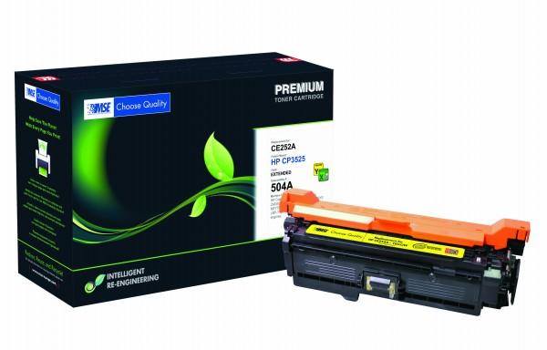 MSE Premium Farb-Toner für HP Color LaserJet 3525 Yellow XXL - kompatibel mit CE252A-XXL