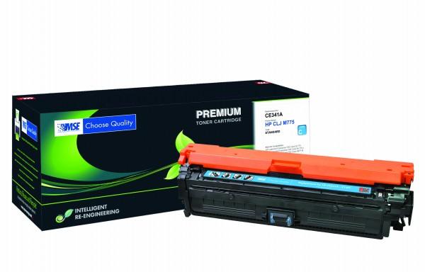 MSE Premium Farb-Toner für HP Color LaserJet M775 (651A) Cyan - kompatibel mit CE341A