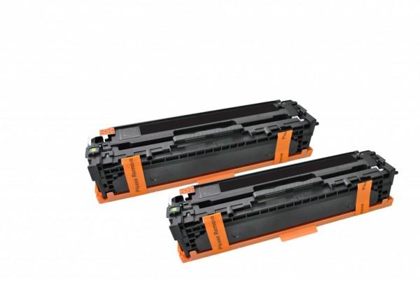 MSE Premium Farb-Toner für HP Color LaserJet CP1215/CP1515 (125A) Black Twin Pack - kompatibel mit C