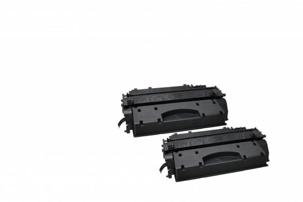 MSE Premium Toner für HP LaserJet P2055 (05X) High Yield Twin Pack - kompatibel mit CE505XD