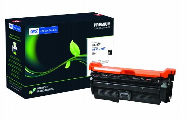 MSE Premium Farb-Toner für HP Color LaserJet M651 (654X) Black High Yield - kompatibel mit CF330X