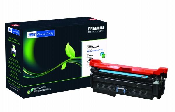 MSE Premium Farb-Toner für HP Color LaserJet CP4025 Cyan XXL - kompatibel mit CE261A-XXL