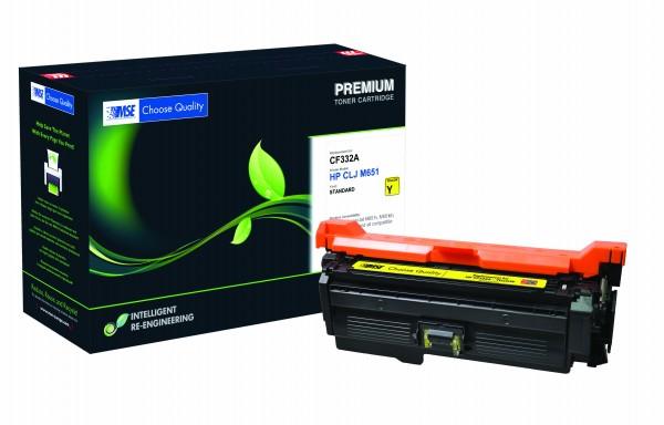 MSE Premium Farb-Toner für HP Color LaserJet M651 (654A) Yellow - kompatibel mit CF332A