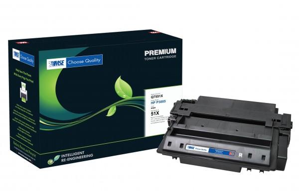 MSE Premium Toner für HP LaserJet P3005 (51X) High Yield - kompatibel mit Q7551X