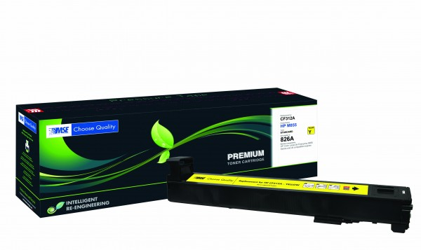 MSE Premium Farb-Toner für HP Color LaserJet M855 (826A) Yellow - kompatibel mit CF312A
