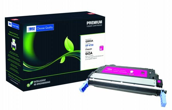 MSE Premium Farb-Toner für HP Color LaserJet 4700 (643A) Magenta - kompatibel mit Q5953A